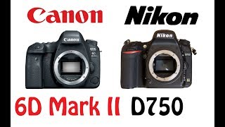 Download Canon EOS 6D Mark II vs Nikon D750 Video