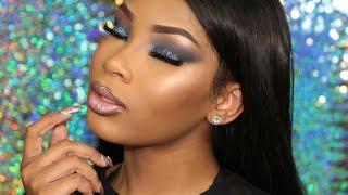 Download Blue Icy Glitter Smokey Eye | AALIYAHJAY Video
