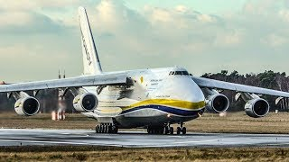 Download BIG Antonov with 24 WHEELS needs a ROUNDABOUT to turn around - Antonov An124 DEPARTURE (4K) Video