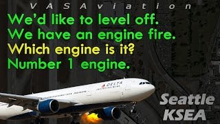 Download [REAL ATC] Delta A330 LEFT ENGINE FIRE departing Seattle KSEA! Video