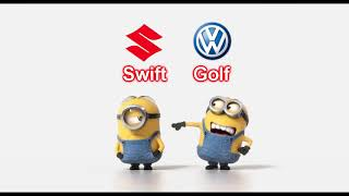 Download Volkswagen Golf vs Suzuki Swift Video