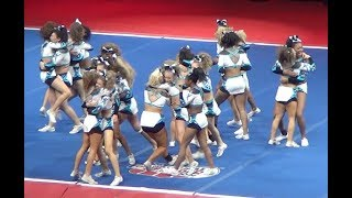 Download Most Iconic Cheer Routine EVER! 1-3-5-7 MUSIC STOPS! COUGARS ~ NCA CHAMPIONS! Video