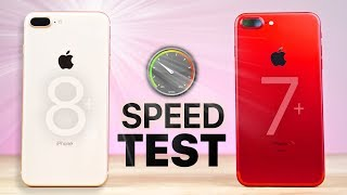 Download iPhone 8 Plus vs 7 Plus SPEED Test! Video