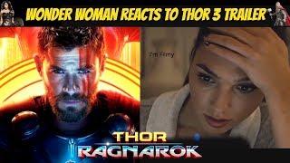 Download Wonder Woman Reacts to Thor Ragnarok Trailer Ft. Gal Gadot & Chris Hemsworth - 2017 Video