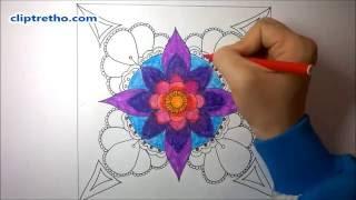 Download Trang trí hình vuông lớp 6 Trang trí hình vuông đối xứng Họa tiết trang trí Video
