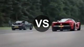 Download Ferrari LaFerrari Vs Porsche 911 Turbo S Drag Race - DRAGINFO Video