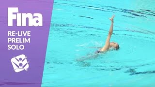 Download Re-Live - Preliminary Solo - FINA World Junior Synchronised Swimming Championships 2016 Video