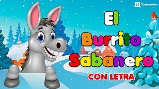 Download Mi Burrito Sabanero con letra, El Burrito de Bélen, Villancicos Musica Navideña, Feliz Navidad, kids Video