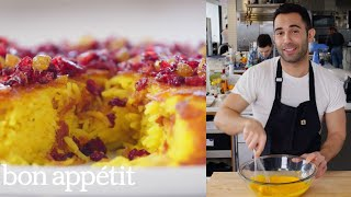 Download Andy Makes the Crispiest Saffron Rice Cake   From the Test Kitchen   Bon Appétit Video