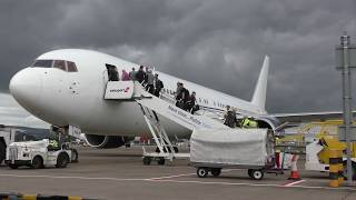 Download Celtic FC board B767 and depart for Astania Video