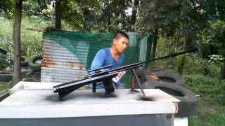 Download Philippine potato gun M107 50 cal rifle sniper gun, Video