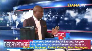 Download DECRYPTAGE 25/12/2016. Bedel Baouna distribue les points et fait son palmarès 2016. Video