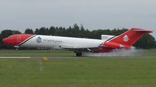 Download Very rare visitor! Oil Spill Response Boeing 727 landing at Groningen airport Eelde (4K) Video