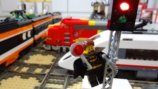 Download Lego train rail crossing fully automated by Arduino Video