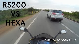 Download RS200 vs Tata Hexa The Chase| Highway Run Video