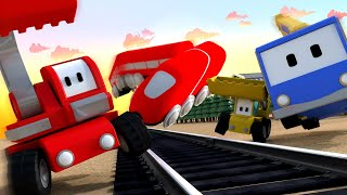 Download The Railway Station - Tiny Trucks for Kids with Street Vehicles Bulldozer, Excavator & Crane Video