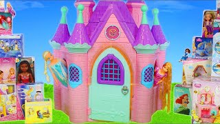 Download Princess Castle Toy Dolls: Cinderella, Frozen Elsa, Rapunzel, Ariel & Belle Dollhouse for Kids Video