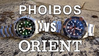 Download Automatic Dive Watch Duel! Phoibos Ocean Master PY005 vs Orient M-Force Bravo - Perth WAtch #137 Video