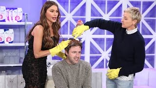 Download Andy Gets a Hair Makeover from Ellen and Sofía Vergara! Video