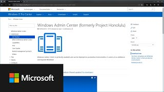 Download How to get started with Windows Admin Center Video