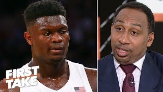 Download Zion's 'recklessness' concerns Stephen A.: 'It's a torn knee waiting to happen' | First Take Video