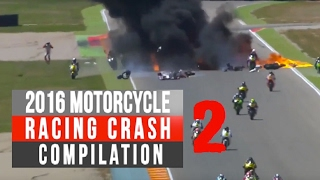 Download 2016 Motorcycle Racing Crash Compilation 2 | Remake [Live Commentary No music] Video