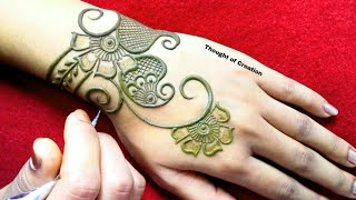 Download Latest Stylish Mehndi Design for Backhands |Thought of Creation Video