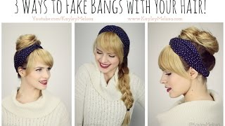 Download 3 Ways to *Fake Bangs* with Your Hair!! Video