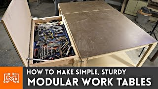 Download Simple Modular Work Tables (WITH MAGNETS!) // Woodworking How To Video