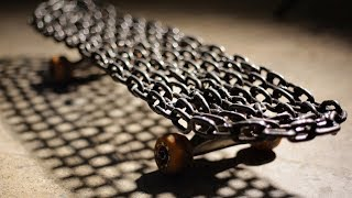 Download SUPER HEAVY WELDED CHAIN LINK SKATEBOARD | YOU MAKE IT WE SKATE IT EP 148 Video