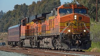 Download Special BNSF Trains in San Diego County in Early 2018 - FRA Trains, Windmill Trains, & More! Video