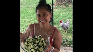 Download My Beautiful Filipina Wife Makes Her Garden Fresh Zucchini Salad Video
