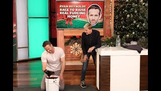 Download Ryan Reynolds Gets Dirty in 'Ryan Reynolds' Race to Raise Real Fudging Money' Video