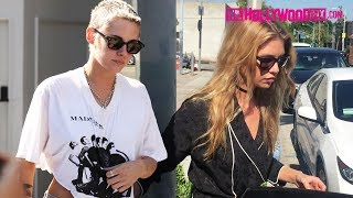 Download Kristen Stewart & Girlfriend Stella Maxwell Have Lunch At Gracias Madre In West Hollywood 6.28.17 Video