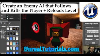Download Unreal Engine 4 Tutorial - Enemy AI Follow and Kill Player + Reload Level Video
