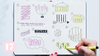 Download Bullet Journal Header and Title Ideas | Plan With Me Video