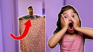 Download MAGIC BLANKET DISAPPEARING TRICK ON TODDLER! (best reaction ever!) Video
