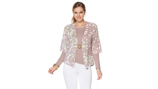 Download MarlaWynne Printed Cardigan with Decorative Pin Video