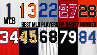 Download BEST 2017 MLB PLAYERS BY JERSEY NUMBER (#1-25) | Part 1 ᴴᴰ Video