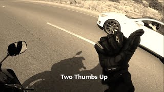 Download Sportbike gets Smoked by a Tesla Model S Video
