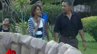 Download Raw Video: Obama Family Heads to Hawaii Zoo Video