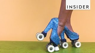 Download World Record Holder Rocks Roller Skate Heels Video
