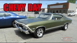 Download 1968 Chevelle 396 -1955 BelAir 454 - Chevy Day at Nick's Garage Video