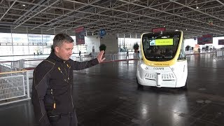 Download Test ride on the SmartShuttle driverless bus Video