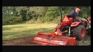 Download The Backward Gardeners composting Kioti Tractor roto tiller plow Video