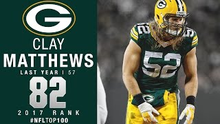 Download #82: Clay Matthews (LB, Packers) | Top 100 Players of 2017 | NFL Video