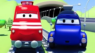 Download Troy The Train and the Tanker in Car City| Cars & Trucks cartoon for children Video