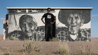 Download This street artist portrays Navajo life with large scale murals Video