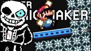 Download WE WONT LET SANS HAVE HIS REVENGE!! | Undertale Levels | Super Mario Maker Video
