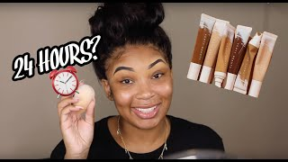 Download LETS TRY THIS AGAIN! WEARING THE FENTY HYDRATING FOUNDATION FOR 24HRS.... Video